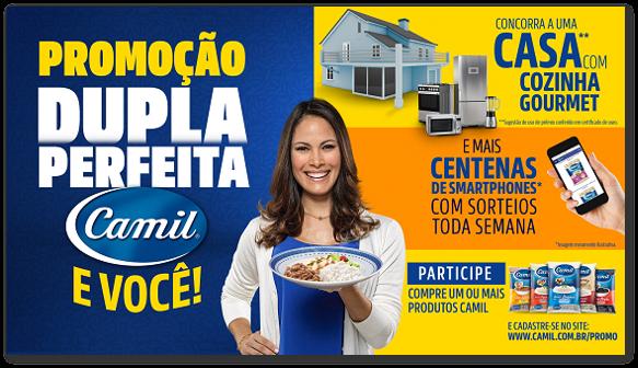 4ad60ece20f Presente na mesa dos brasileiros com grãos de alta qualidade há mais de 50  anos, a Camil reforça sua parceria com o consumidor ao lançar a promoção  Dupla ...