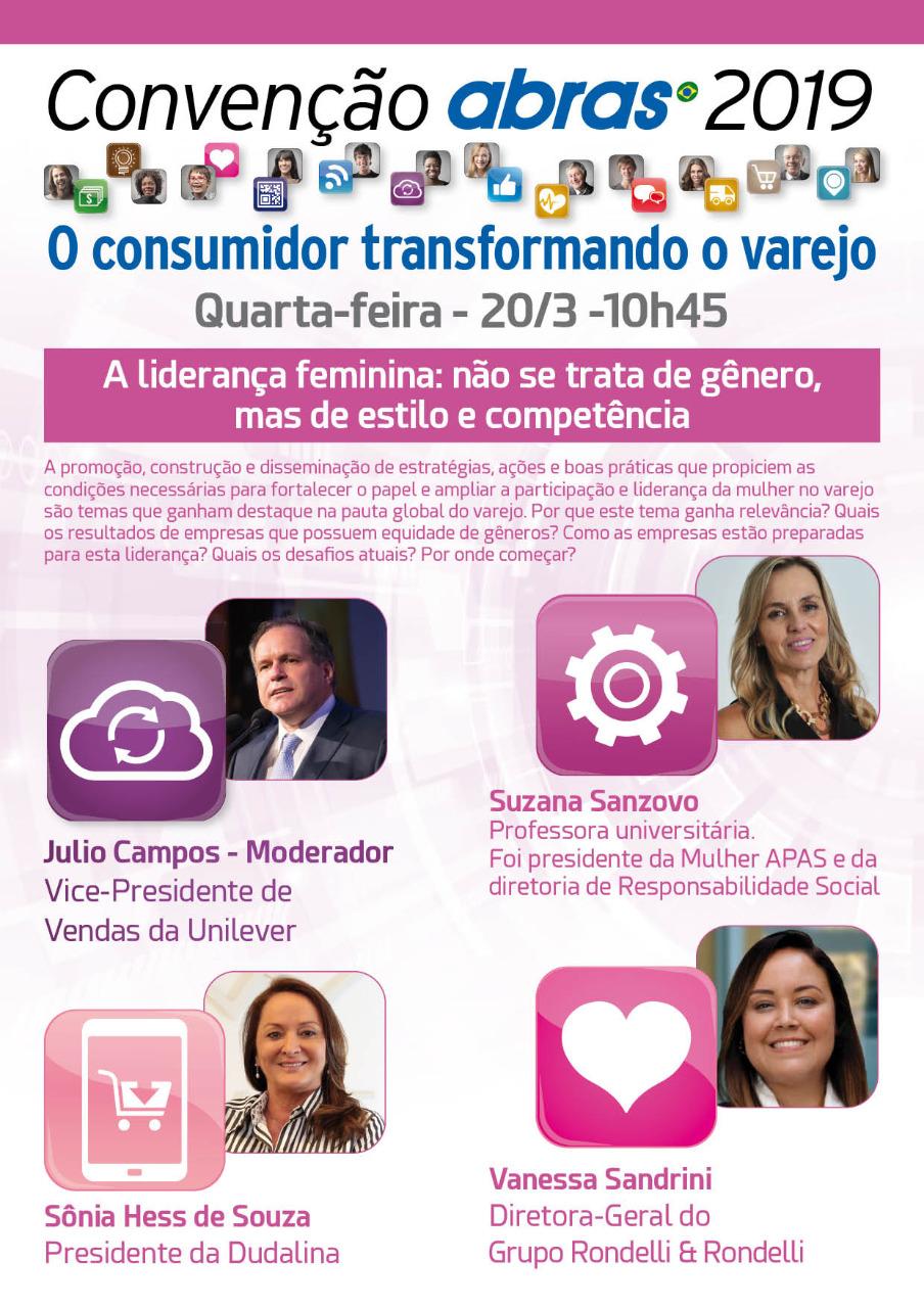 2fbf58a83 Participação e liderança da mulher no varejo serão discutidas em painel no  dia 20 de março