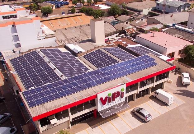 c68d20ecf Supermercado Vipi colhe primeiros resultados da geração de energia solar  fotovoltaica