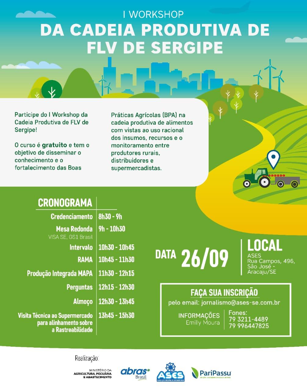e01434cc6e3 ABRAS e ASES promovem workshop da cadeia produtiva de FLV em Sergipe