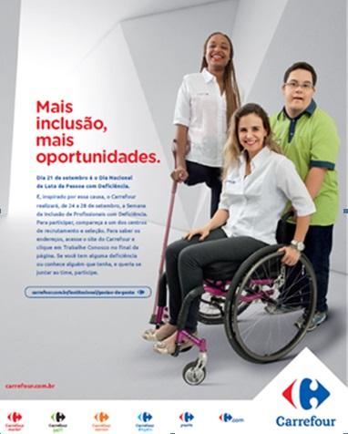 Carrefour realiza campanha de inclusão da pessoa com deficiência... c5e69ab57b